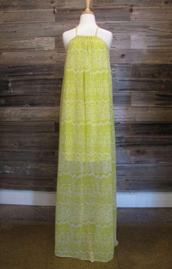 Halter maxi dress, Ella + Scott, Beaumont, $74 Photo: Cat5