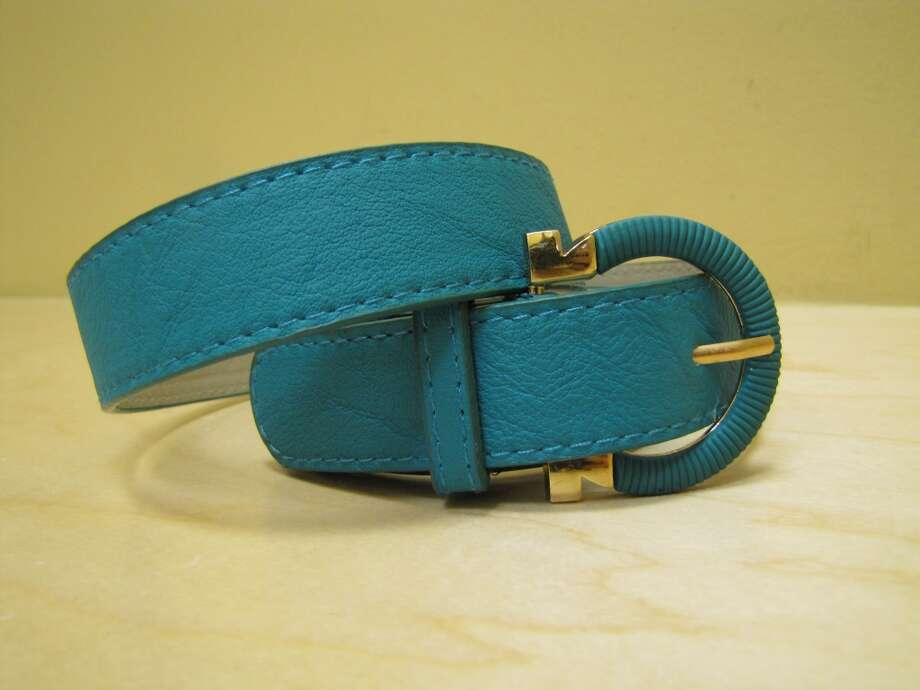 Teal belt, Apricot Lane, Parkdale Mall, $14 Photo: Cat5