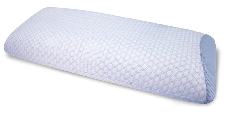 A gel layer on each side of the SensorCool pillow stays cool to the touch. The pillow costs $60 at Dillard's. More info athttp://sensorpedic.com/sensorcool-series.html. Photo: Courtesy Photo