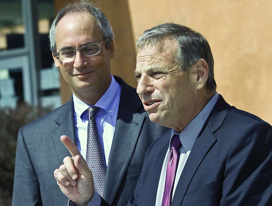 San Diego Mayor Bob Filner (right), shown during his campaign last year, is accused of sexually harassing nine women. Photo: Lenny Ignelzi, Associated Press