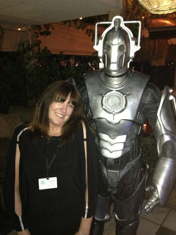 Getting cozy with a Cyberman. Photo: Courtesy