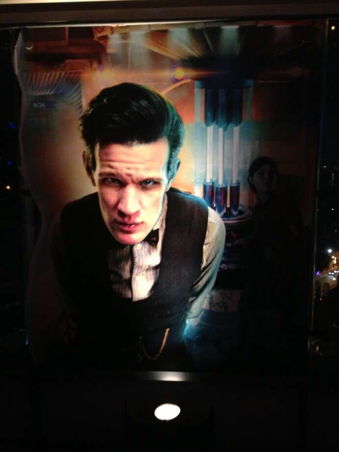 Matt Smith's face was prominentlly on display throughout the party. Photo: Ross Ruediger