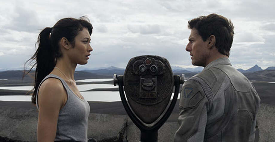"Olga Kurylenko continued her acting streak with sci-fi flick ""Oblivion"" with Tom Cruise and Morgan Freeman. Photo: Http://oblivionmovie.com, 2013, Universal Studios"
