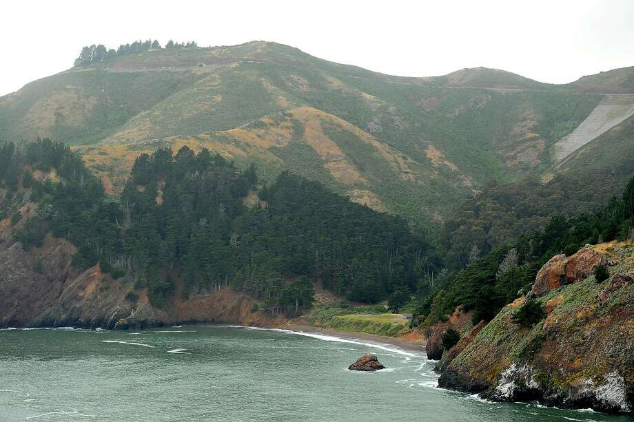 Seen from the Golden Gate Bridge, Kirby Cove sits nestled along the Marin shoreline on Wednesday, May 25, 2011, in Sausalito, Calif. Photo: Noah Berger, Special To The Chronicle