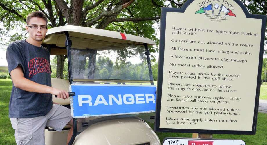 Ranger Brandon Risler at the Town of Colonie golf course Thursday morning, July 25, 2013, in Colonie, N.Y.  (John Carl D'Annibale / Times Union) Photo: John Carl D'Annibale / 00023222A