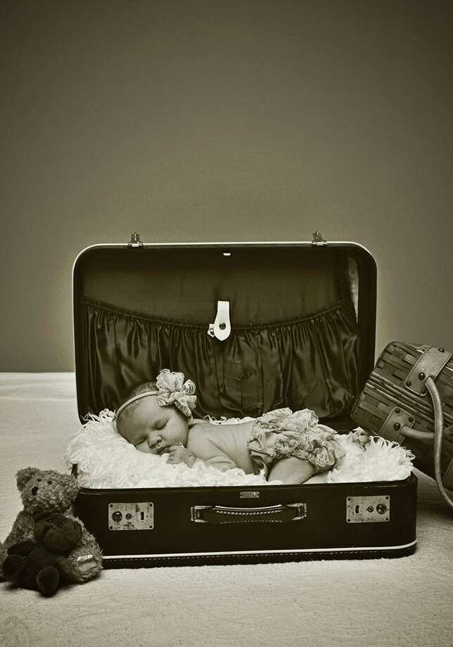 """Victoria Kopczynski's daughter Madelyn is the centerpiece of a vintage-style photograph. """"With a photographer for a mommy, she spends a lot of time in front of the camera! She loves it!"""" her mom says. (Victoria Kopczynski)"""