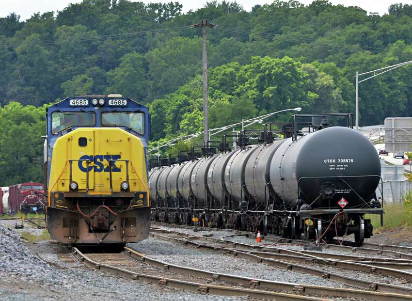 Railroad oil tanker cars at the Port of Albany Tuesday July 30, 2013, in Albany, N.Y.. (John Carl D'Annibale / Times Union)