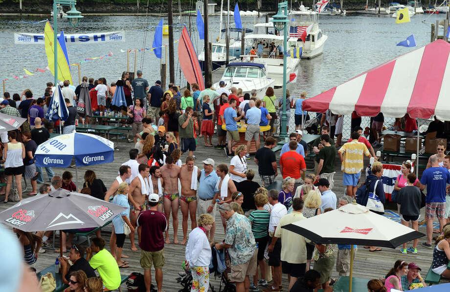 St. Vincent's Swim Across the Sound Marathon at Captain's Cove Seaport in Bridgeport, Conn. on Saturday August 3, 2013. Photo: Christian Abraham / Connecticut Post