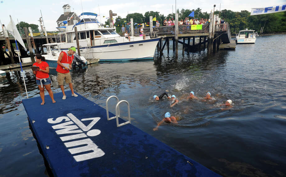 St. Vincent's Swim Across the Sound Marathon at Captain's Cove Seaport in Bridgeport, Conn. on Saturday August 3, 2013. Photo: Christian Abraham / Connecticut Post