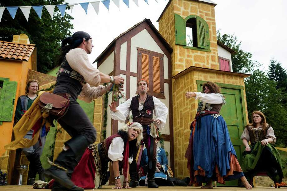 Members of Kumpania Paramitsha perform during The Washington Midsummer Renaissance Faire Saturday, August 3, 2013, at The Kelley Farm in Bonney Lake. The event continues August 10-11 and 17-18. Photo: JORDAN STEAD, SEATTLEPI.COM / SEATTLEPI.COM