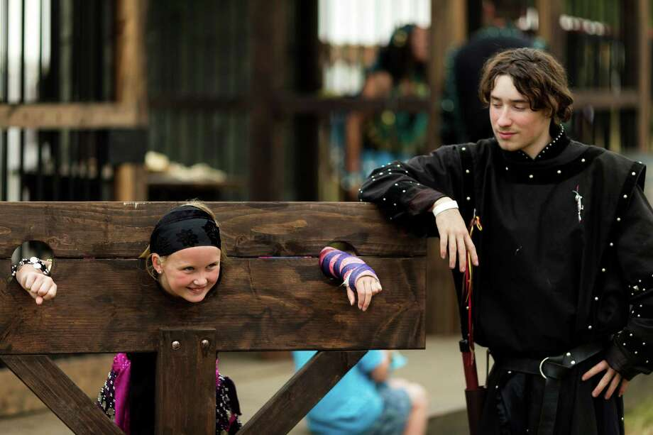 "Naughty festivalgoers were frequently ""imprisoned"" during The Washington Midsummer Renaissance Faire Saturday, August 3, 2013, at The Kelley Farm in Bonney Lake. The event continues August 10-11 and 17-18. Photo: JORDAN STEAD, SEATTLEPI.COM / SEATTLEPI.COM"