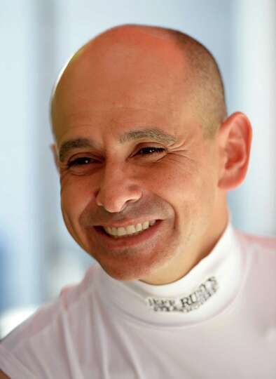 Jockey Mike Smith speaks with the Times Union July, 25, 2013, at Saratoga Race Course in Saratoga Sp