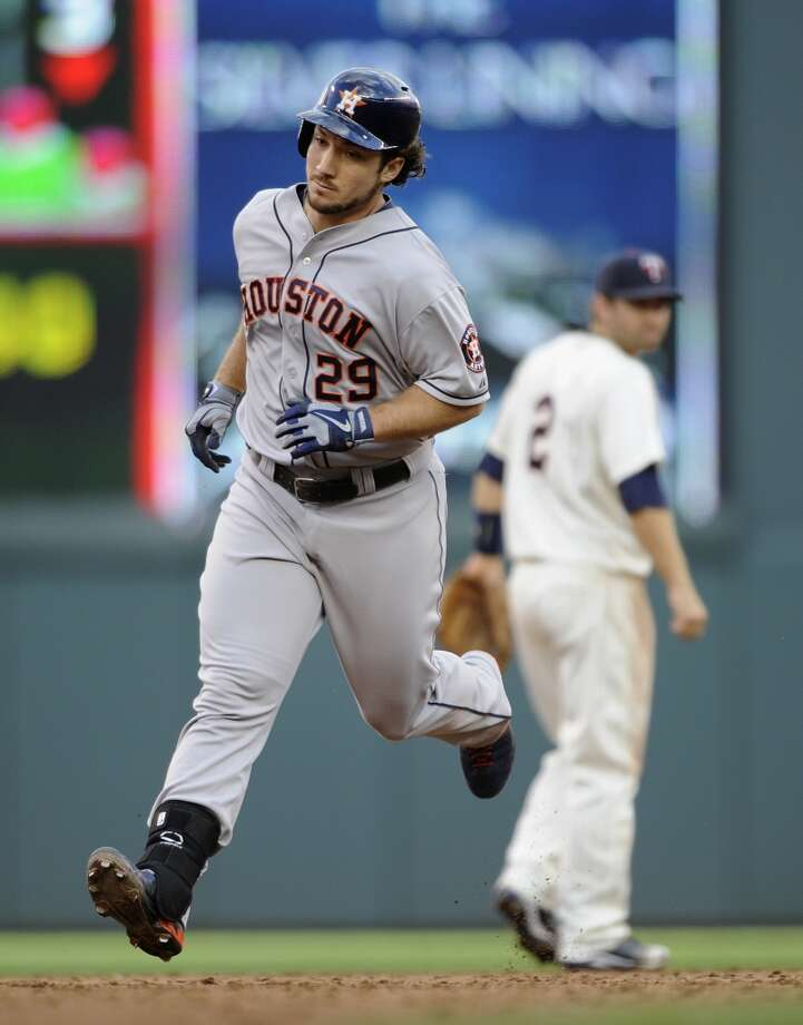 August 3: Twins 6, Astros 4Brett Wallace rounds the bases after hitting a solo home run. Photo: Hannah Foslien, Getty Images