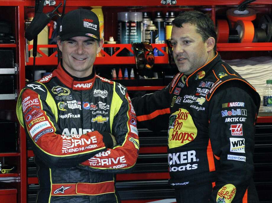 Jeff Gordon (left) is one point ahead of Tony Stewart for 10th place in the Chase field, but if he continues to go without a win this year, he'll likely miss the Sprint Cup version of a playoff. Photo: Russ Hamilton / Associated Press