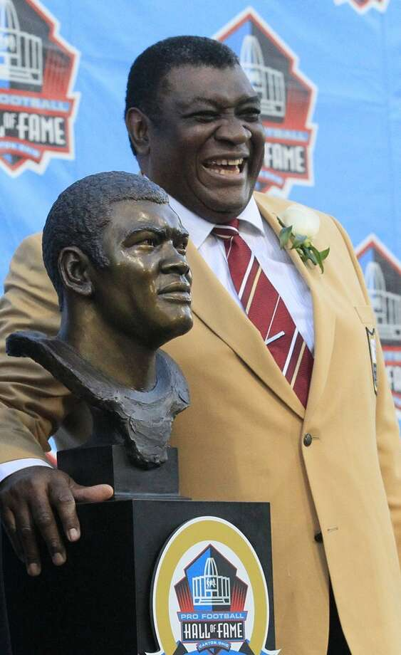 Dave Robinson after his induction into the Pro Football Hall of Fame on Saturday, August 3, 2013, in Canton, Ohio. (Karen Schiely/Akron Beacon Journal/MCT) Photo: Karen Schiely, McClatchy-Tribune News Service