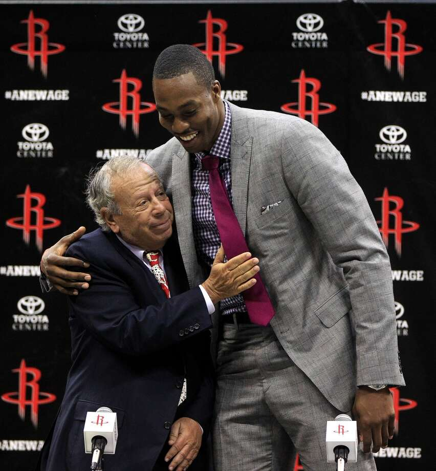 20136. Leslie Alexander, Rockets owner Age: 70. Last year: Not on list. Why he matters: It was a coin flip between Alexander and his crafty general manager, Daryl Morey, as to which one belonged on the chart. Morey's the guy who labored long hours to make the Harden and Howard deals happen, but it's Alexander who controls the climate in which Morey operates, so he earned the nod.   Defining moment: Go ahead, name another local owner who has delivered a major-league championship to Houston. You can argue that he inherited a team that was ready to win in the mid-90s, but the fact is it happened on his watch. Staying power: Alexander loves the NBA and he loves owning the Rockets, even if he's hanging his hat in a new $42 million Manhattan penthouse. If he'd bought the franchise just to turn a healthy profit, he'd have sold out a long time ago. Obviously, he doesn't need the money. Photo: Karen Warren, Chronicle