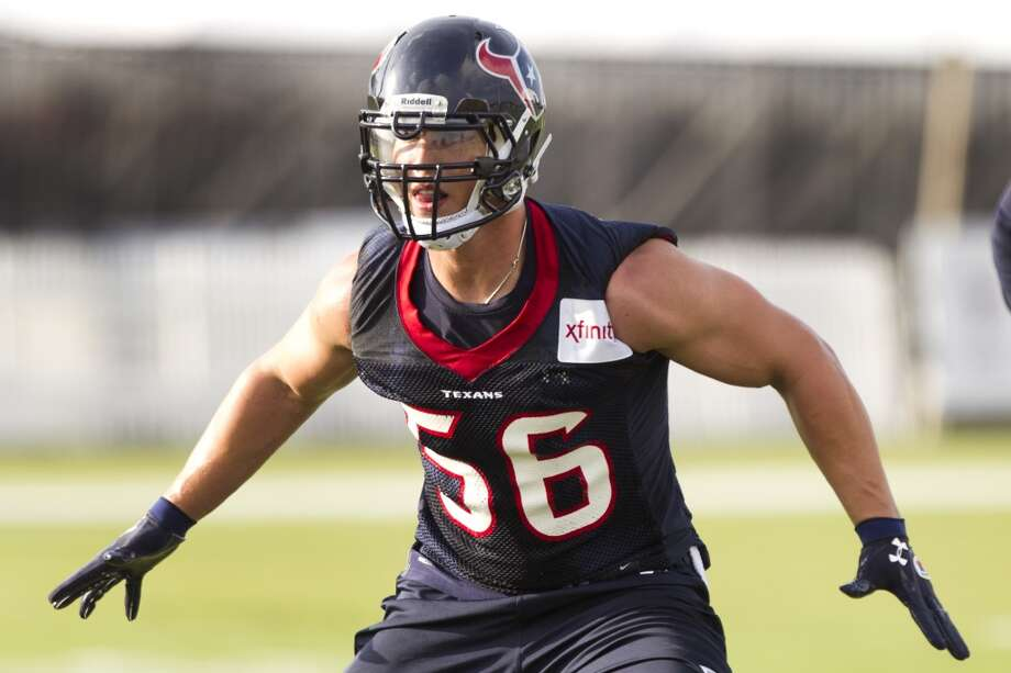 "2013 7. Brian Cushing, Texans linebacker Age: 26. Last year: Not on the list Why he matters: Losing Cushing to a torn anterior cruciate ligament in the fifth game last fall turned a potential Super Bowl defense into a hit-and-miss outfit. Cush had become the kind of player who made everybody around him better and, if he picks up where he left off before the injury, defensive coordinator Phillips, who topped our ""Houston 10"" last year, is going to look a lot smarter again. Watt notwithstanding, it's Cushing who will determine the fate of the Texans' defense and, in large part, the team's Super Bowl chances.          Defining moment: He came up big twice against the Colts as a rookie, making a combined 17 tackles, assisting on six others and intercepting a Peyton Manning pass. It was Indy – and Manning – the Texans were going to have to beat to get anywhere and Cushing personally embraced the challenge.      Staying power: Modern rehab makes his kind of knee injury less career-threatening that it once would have been, but until we see him flying around on the field, it's impossible to predict if he can get back on track to a Pro Bowl-filled career. Photo: Brett Coomer, Chronicle"