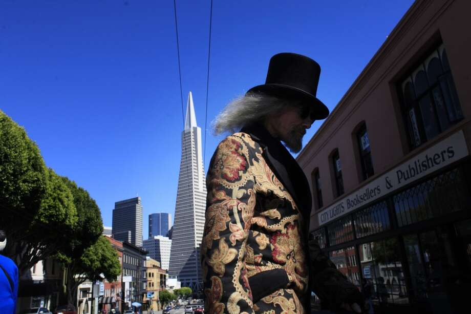 "After living in North Beach for 48 years, Patrick ""Captain Cool"" LeBold have become part of the fabric of the historical San Francisco community. Photo: The Chronicle"