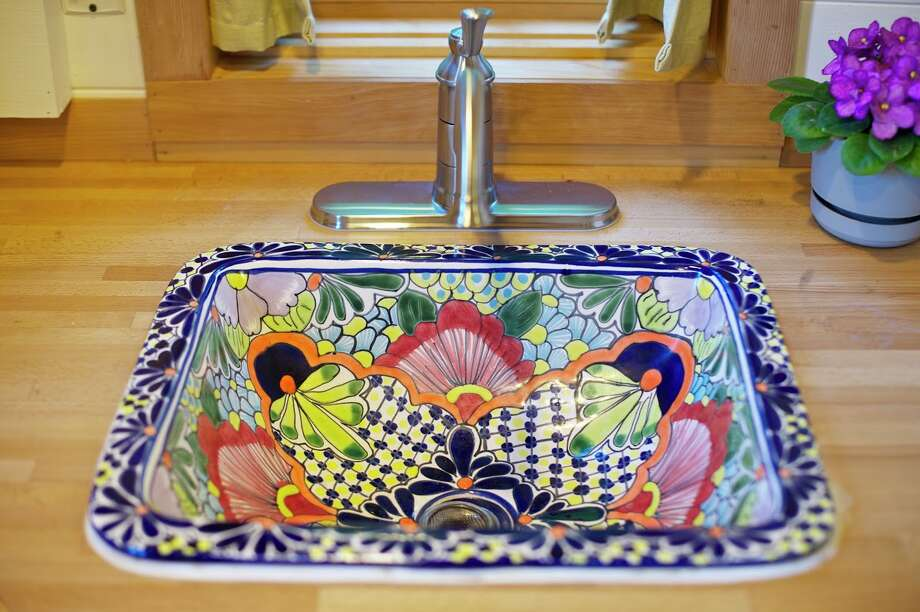 This sink came from a flea market in Mexico.  Photo: Via Airbnb / 2012 Christopher Tack