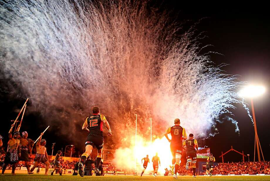 Take cover!The Chiefs-Brumbies Super Rugby Final match will begin in Hamilton, New Zealand, after the ceremonial artillery barrage. Photo: Phil Walter, Getty Images