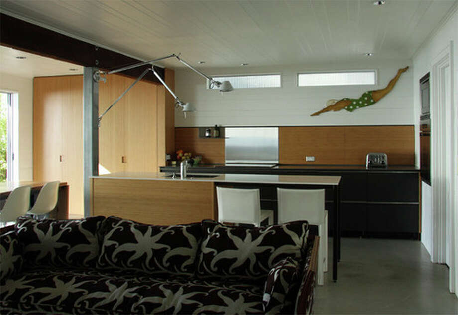 Similarly, this graceful swimmer brings in an unexpected touch of whimsy to this minimalist kitchen. Photo: Houzz.com