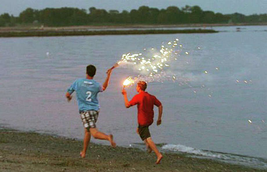 The town's annual fireworks show in tribute to the 4th of July at Compo Beach is one of many things worth celebrating about the Westport shoreline these days. Photo: File Photo / Westport News