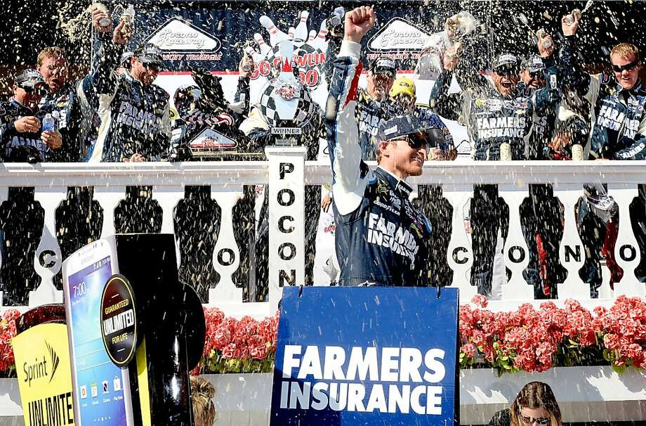 Kasey Kahne celebrates his second win of 2013. Photo: John Harrelson, Getty Images
