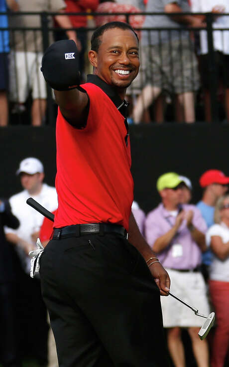 It was a laugher from start to finish for Tiger Woods as he took a seven-shot lead into the final round of the Bridgestone Invitational and emerged with a victory by the same margin. Photo: Gregory Shamus, Stringer / 2013 Getty Images