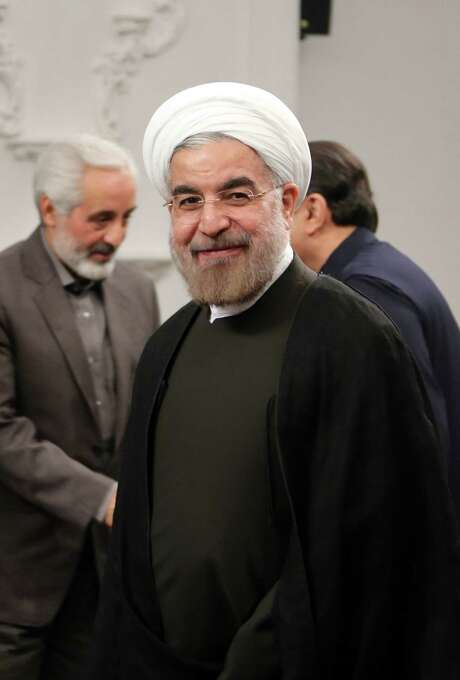 "On Syria, new Iranian leader Hasan Rouhani said his nation ""will stand by it in facing all challenges."""