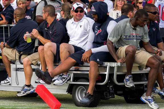 Texans running back Arian Foster was kicking but not screaming after sitting out another training camp practice Sunday.
