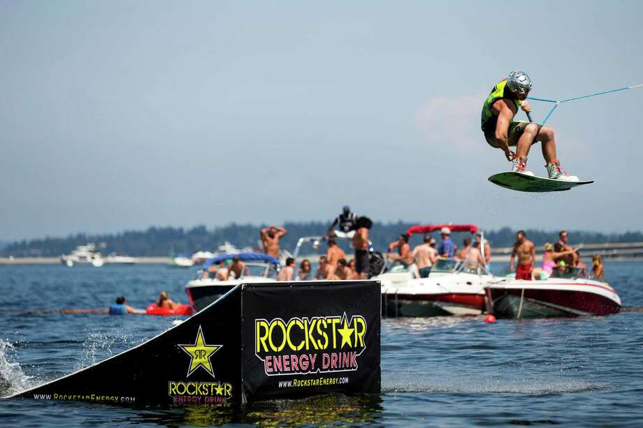 Wakeboarders catch air from the Hyperlite kicker jumps. Photo: JORDAN STEAD, SEATTLEPI.COM / SEATTLEPI.COM