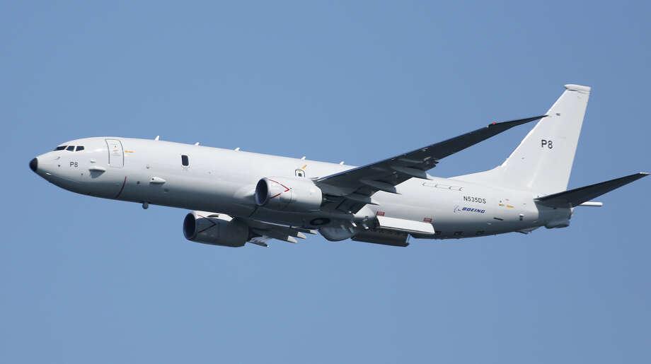 A Boeing P8 makes a pass overhead. Photo: JOSHUA TRUJILLO, SEATTLEPI.COM / SEATTLEPI.COM