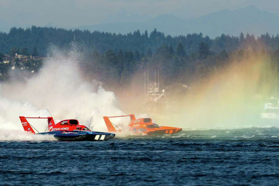 Hydros compete in the H1 Final heat on the third and final day of Seafair. Photo: JORDAN STEAD, SEATTLEPI.COM / SEATTLEPI.COM