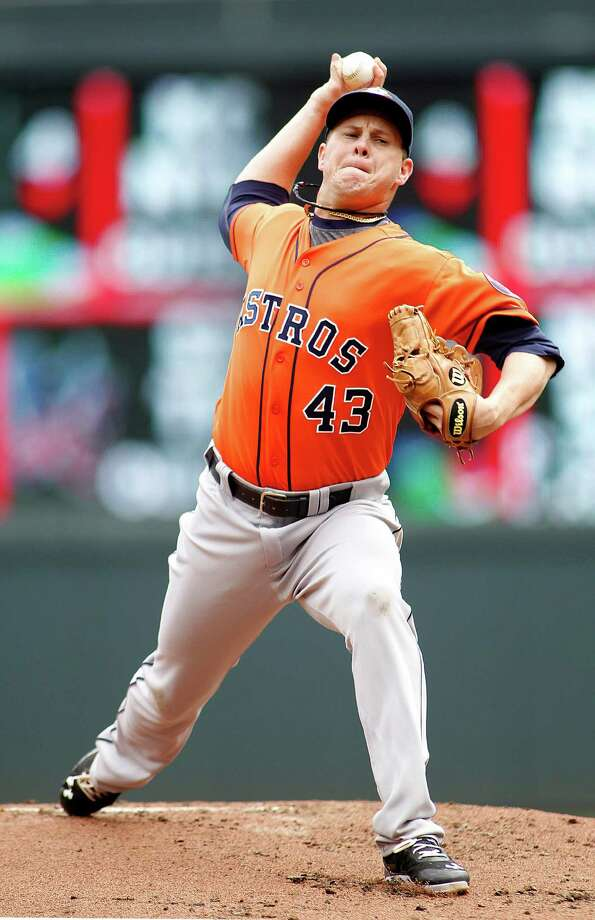Brad Peacock gave the Astros a quality start Sunday (three runs in seven innings) in his fifth start of the season. Photo: Andy Clayton-King, FRE / FR51399 AP