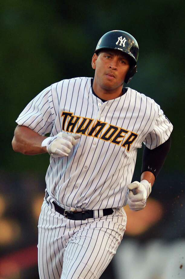 FILE - AUGUST 4, 2013: Media reports say that Alex Rodriguez will be suspended in an announcement expected on Monday by Major League Baseball August 4, 2013. TRENTON, NJ - AUGUST 03: Alex Rodriguez #13 of the New York Yankees runs towards third during a rehab game for the Trenton Thunder against the Reading Fightin Phils at Arm & Hammer Park on August 3, 2013 in Trenton, New Jersey. (Photo by Drew Hallowell/Getty Images) ORG XMIT: 175669193 Photo: Drew Hallowell / 2013 Getty Images