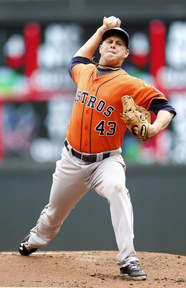 Aug. 4: Twins 3, Astros 2Brad Peacock struck out 10 in seven innings of work, but the pitcher allowed two homers -- one early and one late -- that cost him a shot at the win.   Record: 36-74. Photo: Andy Clayton-King, Associated Press