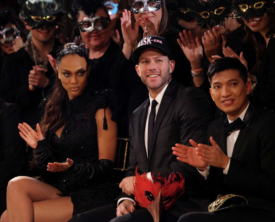 Tyra Banks, Johnny Wujek and Bryanboy Photo: Patrick Wymore, The CW / ©2013 The CW Network, LLC. All Rights Reserved