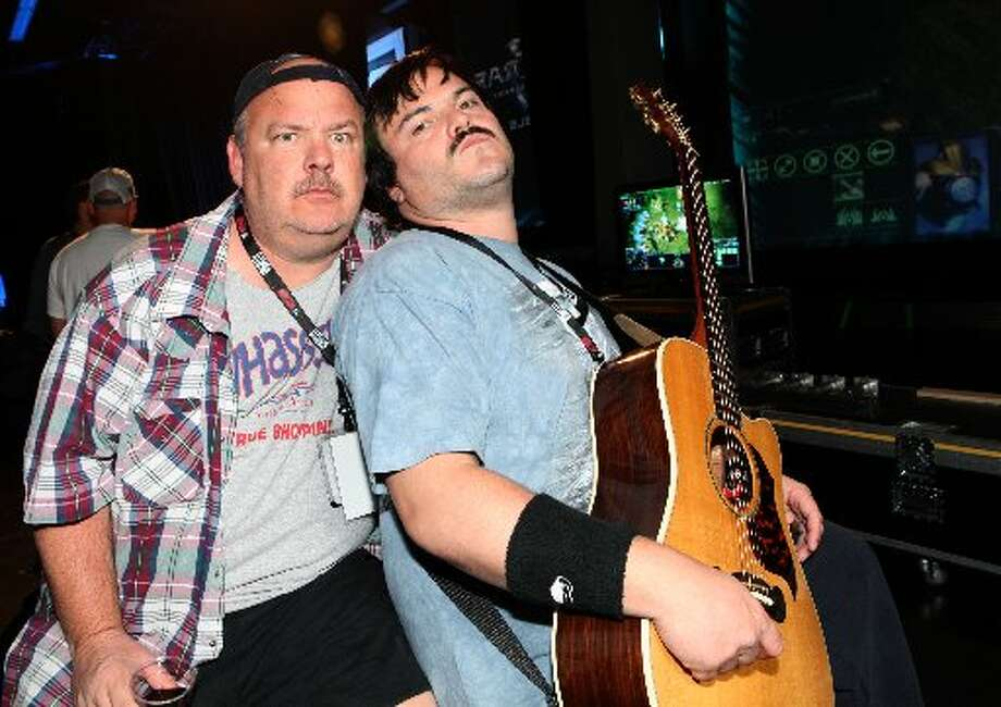 Kyle Gass, left, and Jack Black of the band Tenacious D. Photo: AP IMAGES FOR BLIZZARD