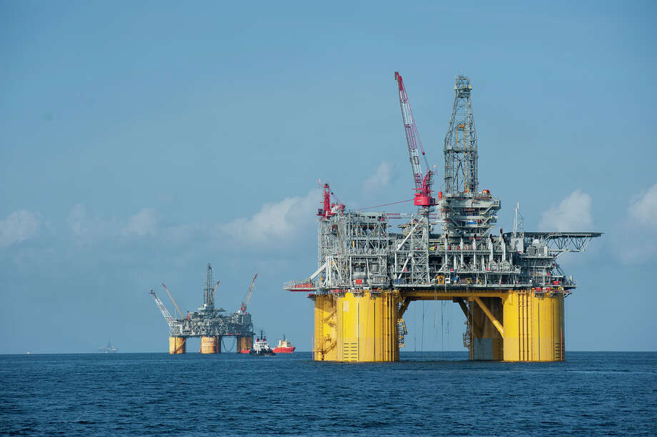 Shell's new Olympus platform now is stationed next to Shell's Mars platform in the Gulf of Mexico.
