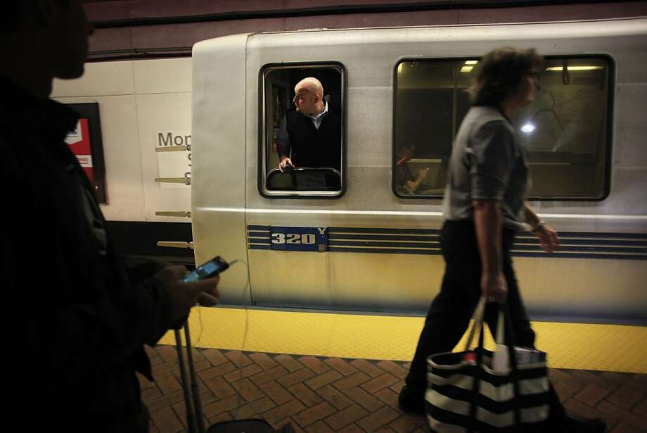 The day after Governor Jerry Brown intervened in the BART labor negations that posted a potential strike for at least another week, a BART driver heads out of Montgomery station on Monday Aug. 5, 2013 in San Francisco, Calif. Photo: Mike Kepka, The Chronicle