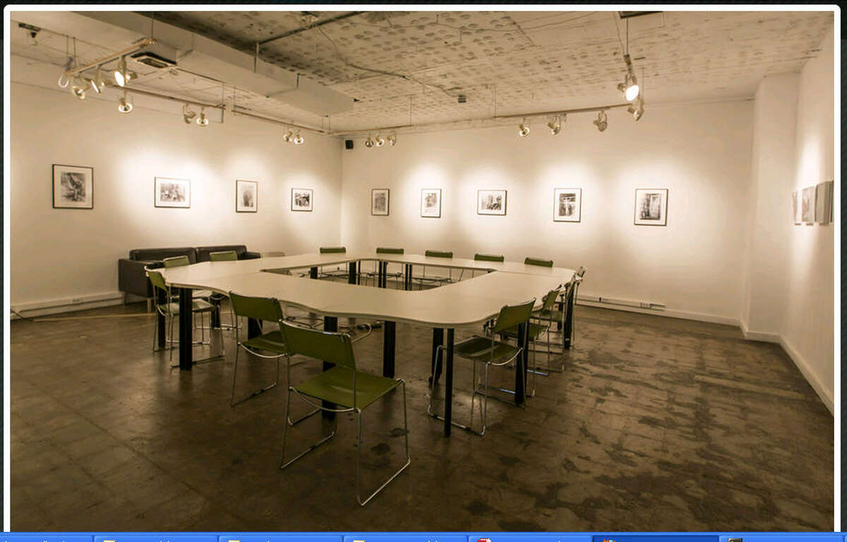 A photo from the Caroline Collective's website shows one of the multi-use work/gallery spaces in the building.