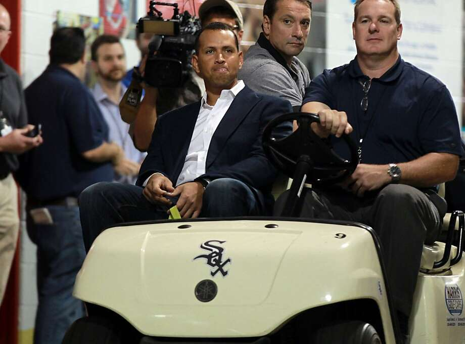 Alex Rodriguez, most recently of the Trenton Thunder, arrives for Monday's Yankees game against the Chicago White Sox. Photo: Scott Strazzante, McClatchy-Tribune News Service