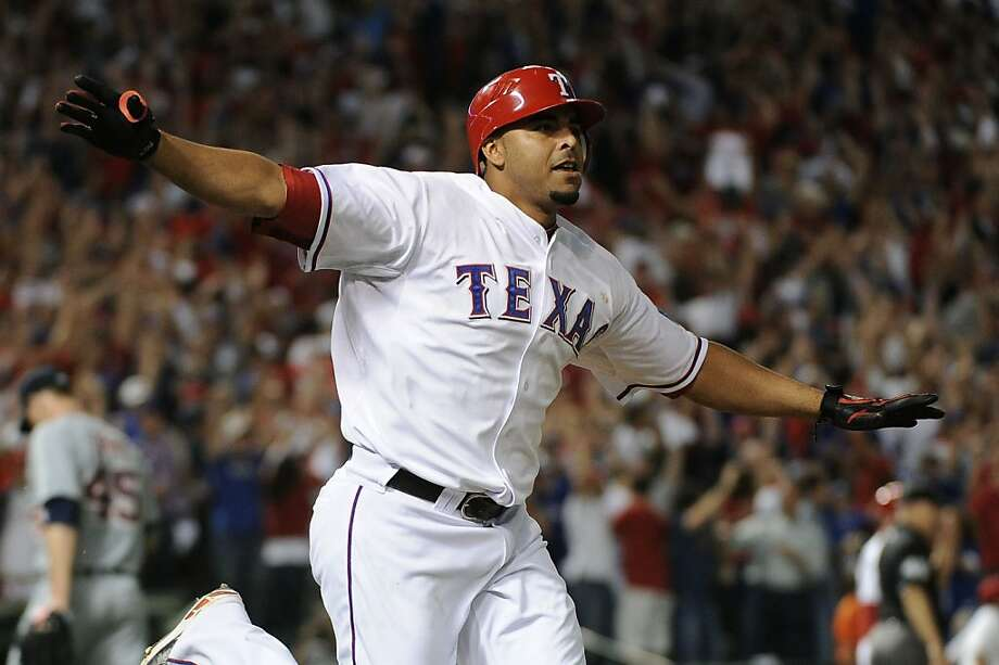 The Rangers' Nelson Cruz trotted out an old-school excuse for his use of performance-enhancing drugs. Photo: Harry How, Getty Images