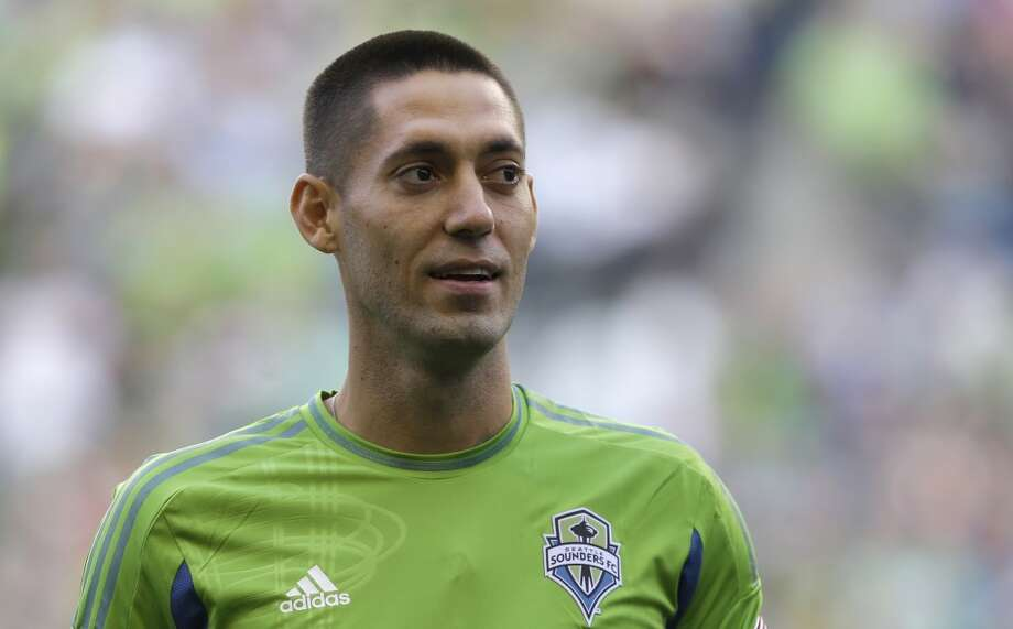 Clint Dempsey, captain of the U.S. men's national team, is introduced as the newest member of Seattle Sounders FC on Saturday, Aug. 3, 2013, prior to a match between the Sounders and FC Dallas in Seattle. Dempsey previously played for Tottenham Hotspur in the English Premier League. Photo: Ted S. Warren, Associated Press