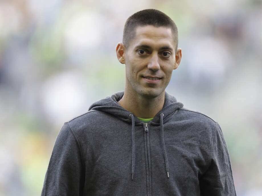 Clint Dempsey is introduced as the newest member of the Sounders on Saturday. Photo: Ted S. Warren, Associated Press
