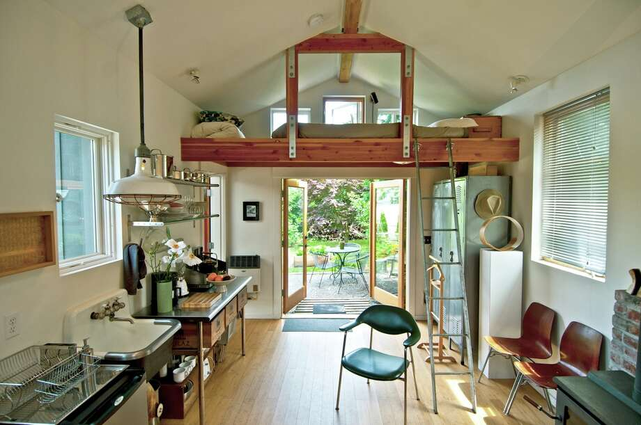 The Mini House, which can sleep three people, has made appearances in design blogs, magazine articles and The New York Times. It's located in the Top Hat neighborhood just south of Seattle.  Photo: Airbnb