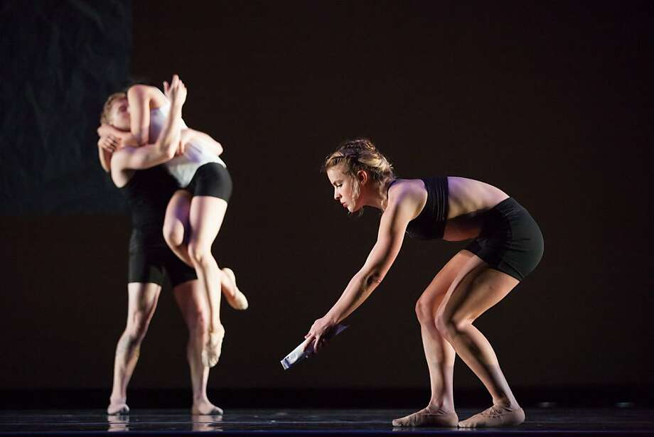 """Dennis Adams (left), Yayoi Kambara and Maggie Stack of ODC/Dance perform in Brenda Way's """"Triangulating Euclid"""" during the """"Summer Sampler."""" Photo: Margo Moritz, ODC"""