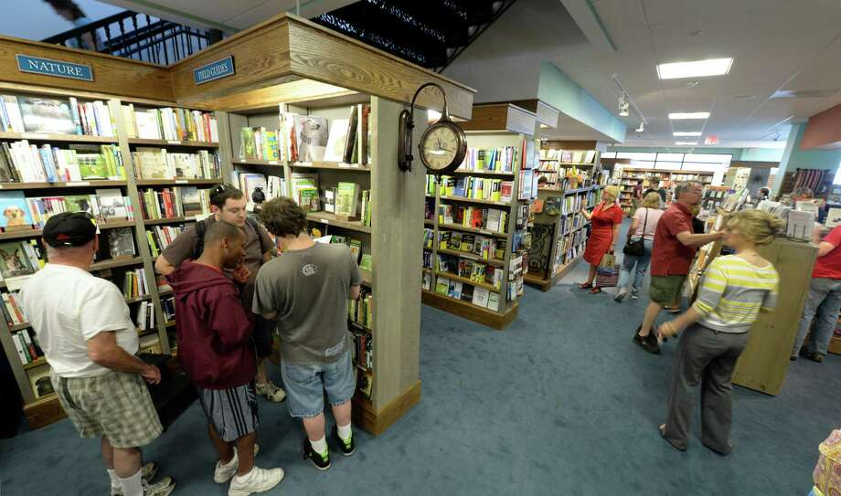 Business is brisk at the Northshire Bookstore Monday morning, Aug. 5, 2013, on opening day in Saratoga Springs, N.Y.   (Skip Dickstein/Times Union) Photo: SKIP DICKSTEIN / 00023407A