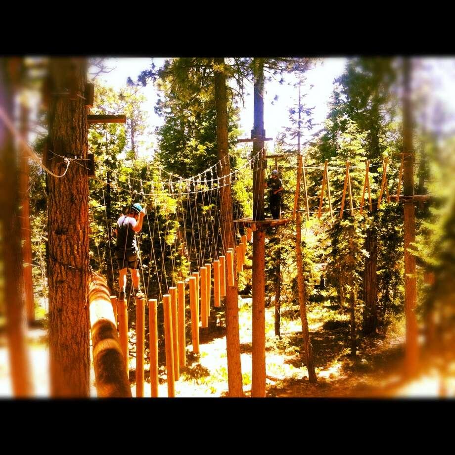 Walking the planks at Granlibakken.