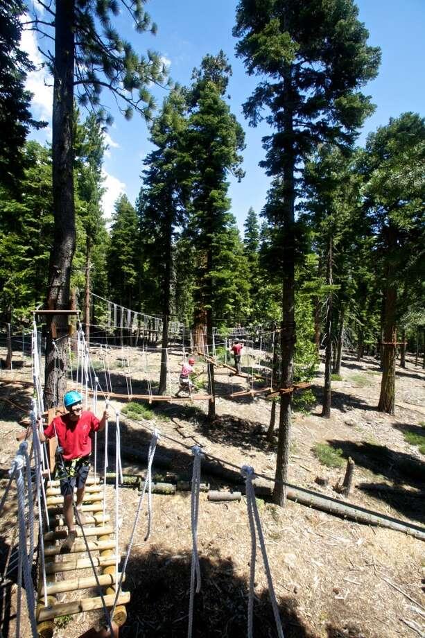 Granlibakken's treetoop adventure park. Photo: John Staab